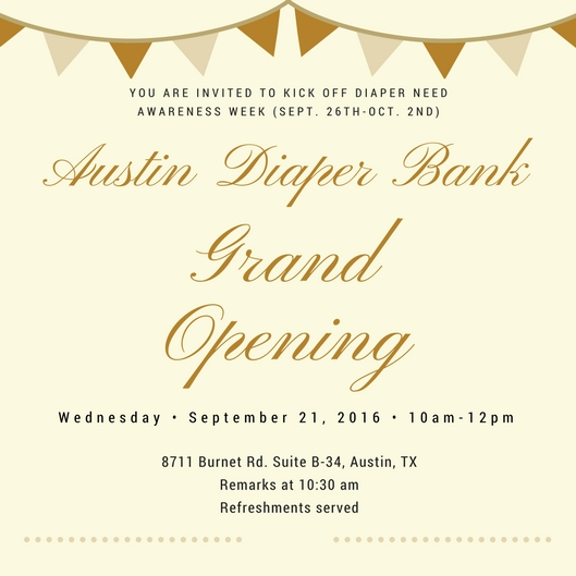 Austin Diaper Bank Grand Opening Austin Expecting – Grand Opening Party Invitations