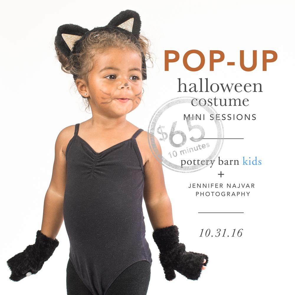 pop-up: halloween costume portraits at pottery barn kids - austin