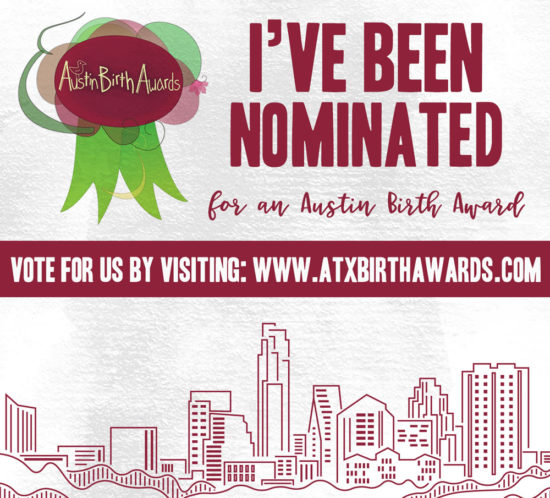 Austin Expecting Nominated Austin Birth Award 2017