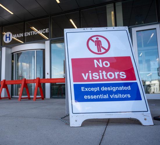 No hospital visitors covid-19 austin